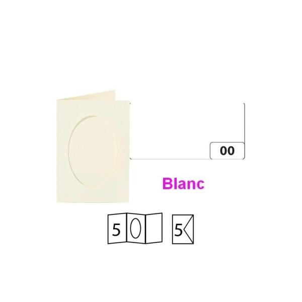 Lot de 5 Cartes passe-partout ovales à 2 volets, avec enveloppes, Format A6 - Photo n°1