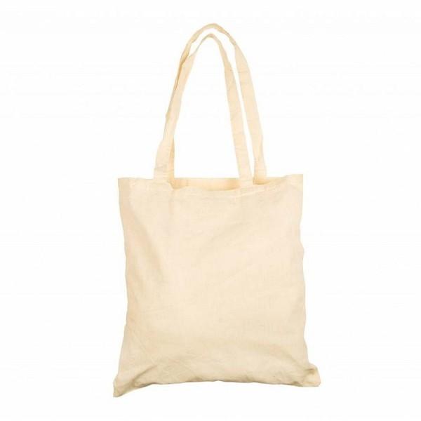 Sac en coton naturel, 38 x 42 cm, Cabas à sustomiser avec anses longues - Photo n°1