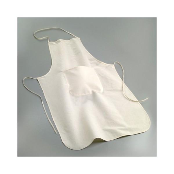 Tablier de bricolage pour adulte avec une poche, dim. 60 x 90 cm, coton fin naturel 105gr/m² - Photo n°1