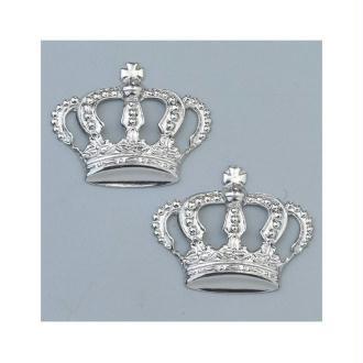 Lot de 2 bijoux argentés pour accessoires Efcolor,  Couronne 26 × 22 mm