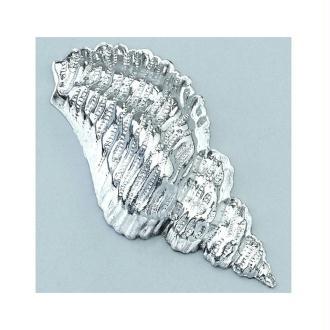 Bijou argenté pour accessoires Efcolor, Coquillage 15 × 32 mm