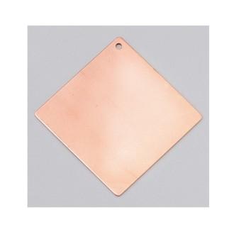 Pendentif en cuivre, ébauche émaillage froid Efcolor Carré 1 trou - 55 ×