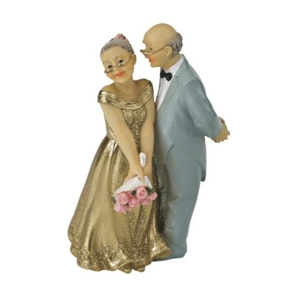 Figurine Couple Marié Depuis 50 Ans Anniversaire De Mariage Noces Dor 124x8x6cm