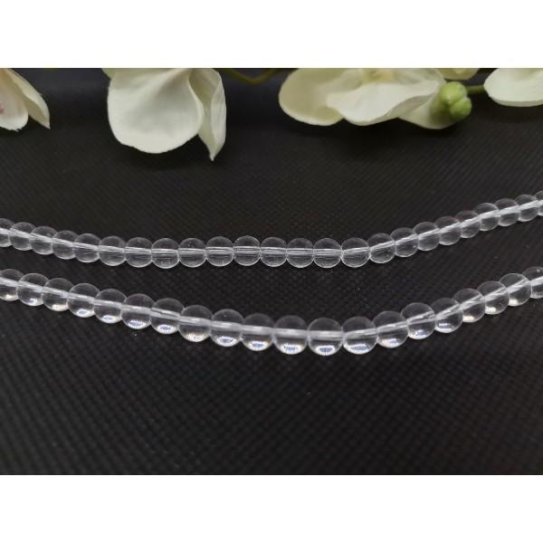 Perles en verre 6 mm transparente x 50 - Photo n°1