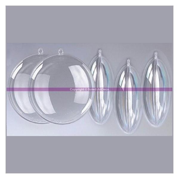 Lot de 5 Médaillons en plastique transparent pour contact alimentaire, 7 cm - Photo n°1