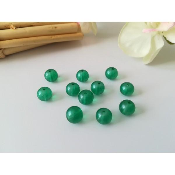 Perles en verre 8 mm verte x 20 - Photo n°1