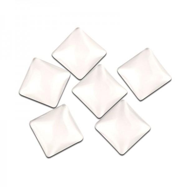S1113939 PAX 10 Cabochons en verre Transparent Forme CARRE 25mm - Photo n°1