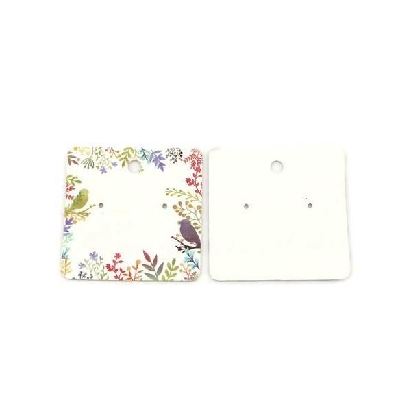S110118479 PAX 20 cartes de présentation Carre pour boucles d'oreilles Eden - Photo n°1