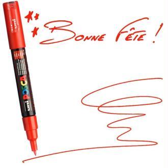 Marqueur Posca pointe conique extra fine 1 mm Rouge
