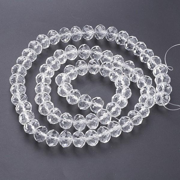 Perles en verre à facette 6 x 4 mm cristal x 25 - Photo n°2