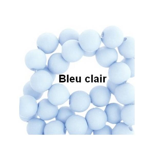 Lot de 200  perles acryliqes 6mm de diametre bleu clair - Photo n°1