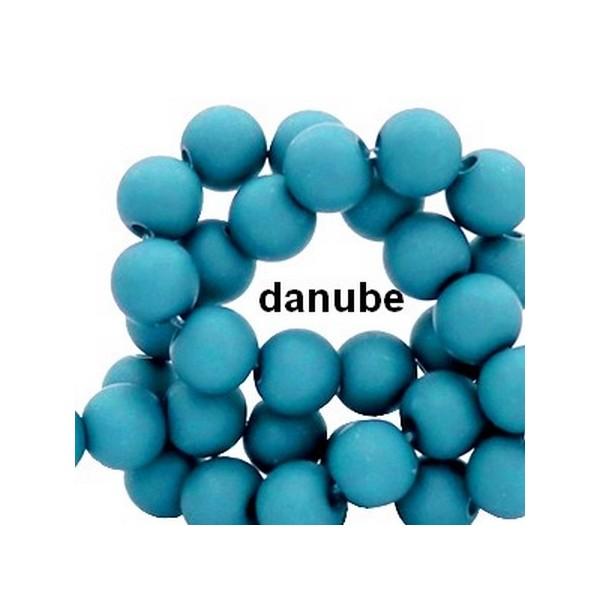 Lot de 200  perles acryliqes 6mm de diametre bleu danube - Photo n°1