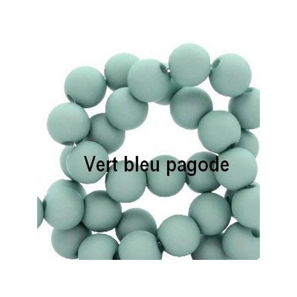 Lot de 200  perles acryliqes 6mm de diametre pagode - Photo n°1