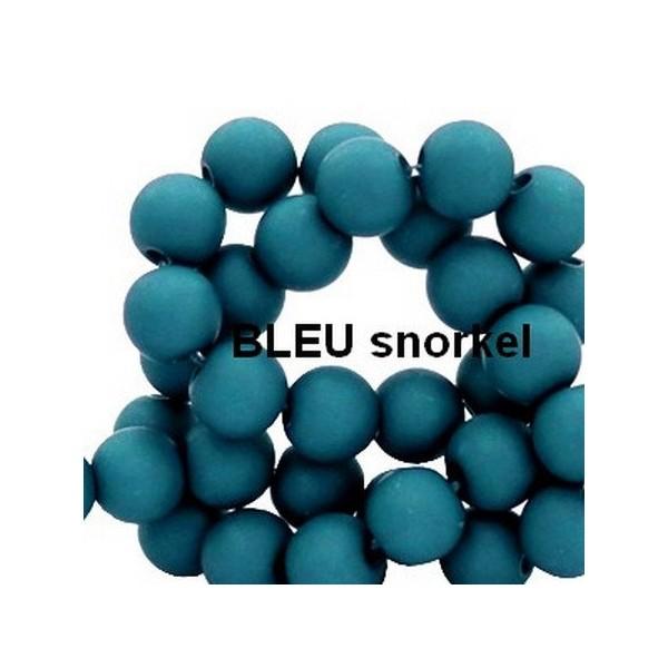 Lot de 200  perles acryliqes 6mm de diametre bleu snorkel - Photo n°1