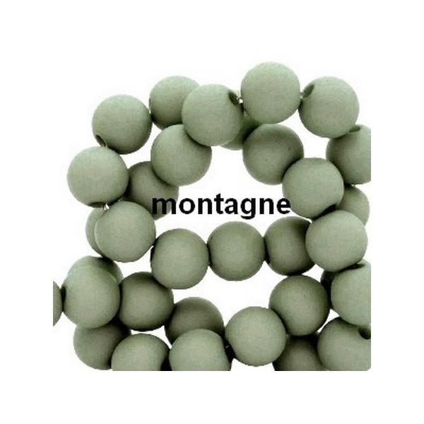Lot de 200  perles acryliqes 6mm de diametre vert montagne - Photo n°1