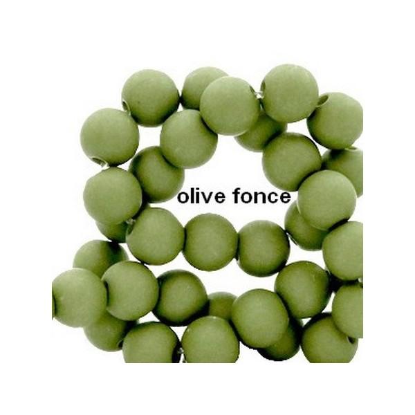 Lot de 200  perles acryliqes 6mm de diametre olive fonce - Photo n°1