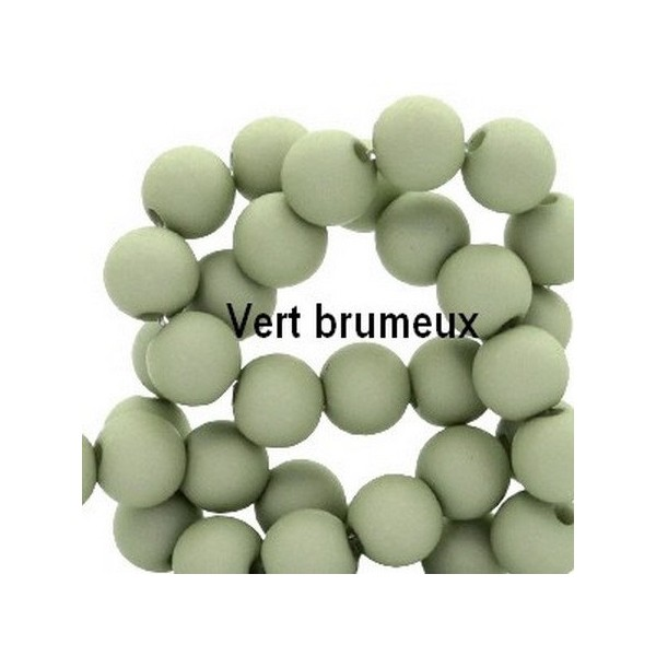 Lot de 200  perles acryliqes 6mm de diametre brumeux - Photo n°1
