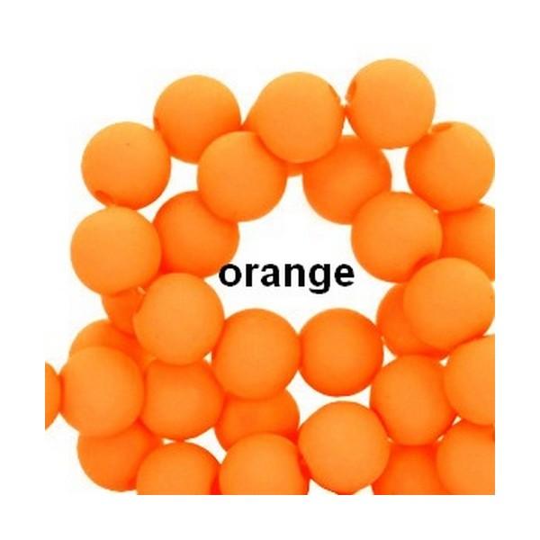 Lot de 200  perles acryliqes 6mm de diametre orange - Photo n°1