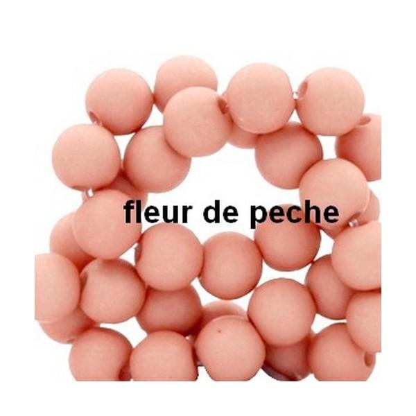 Lot de 200  perles acryliqes 6mm de diametre fleur de peche - Photo n°1