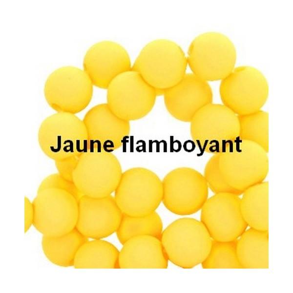 Lot de 200  perles acryliqes 6mm de diametre jaune flamboyant - Photo n°1