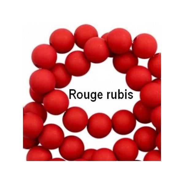 Lot de 200  perles acryliqes 6mm de diametre rouge rubis - Photo n°1