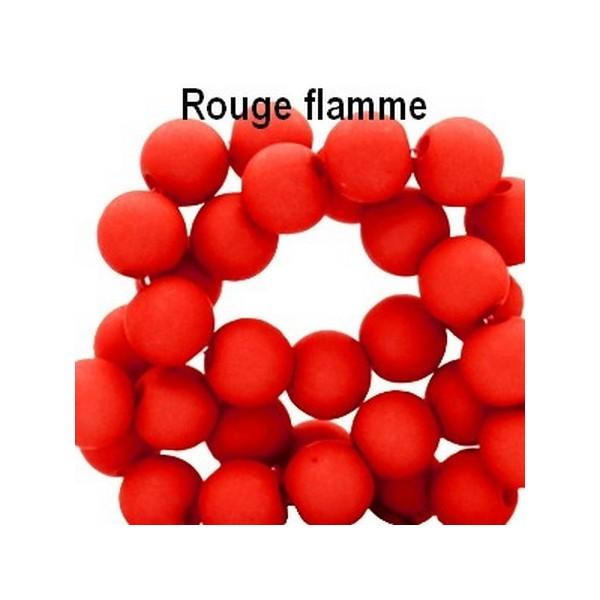 Lot de 200  perles acryliqes 6mm de diametre rouge flamme - Photo n°1