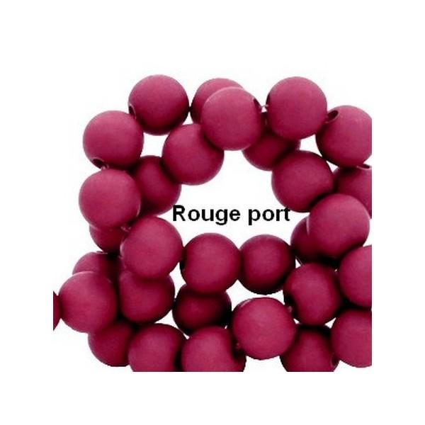 Lot de 200  perles acryliqes 6mm de diametre rouge port - Photo n°1