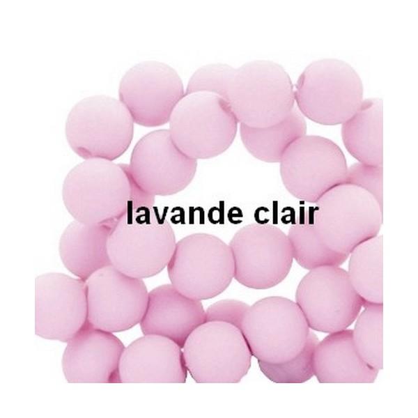 Lot de 200  perles acryliqes 6mm de diametre lavande - Photo n°1