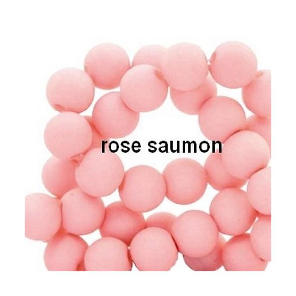 Lot de 200  perles acryliqes 6mm de diametre rosesaumon - Photo n°1