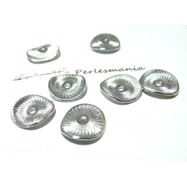 Apprêt bijoux 10 pieces breloque anneau martelé ref 11073 - Photo n°1