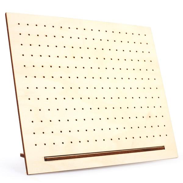Support en bois perforé pour bijoux à décorer - 30 x 25 cm - Photo n°2