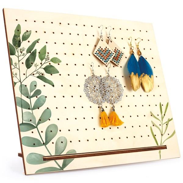 Support en bois perforé pour bijoux à décorer - 30 x 25 cm - Photo n°3