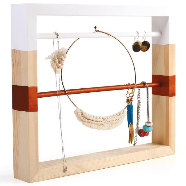 Support en bois pour bijoux à décorer - 30 x 25 cm - Photo n°2