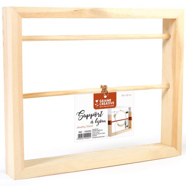 Support en bois pour bijoux à décorer - 30 x 25 cm - Photo n°3