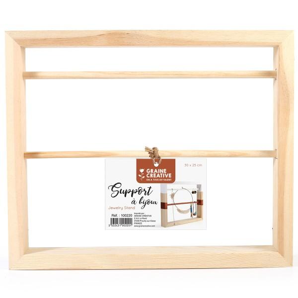 Support en bois pour bijoux à décorer - 30 x 25 cm - Photo n°1