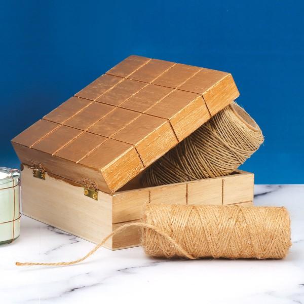 Boite en bois à décorer - 13 x 13 x 6 cm - Photo n°2