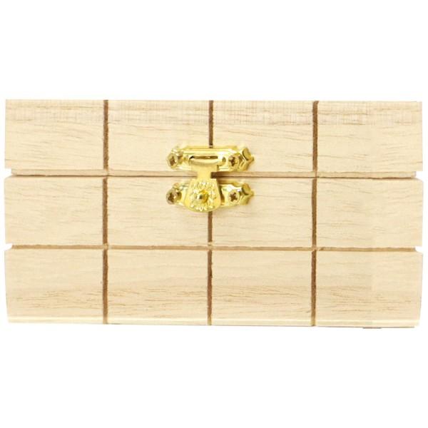Boite en bois à décorer - 13 x 13 x 6 cm - Photo n°3