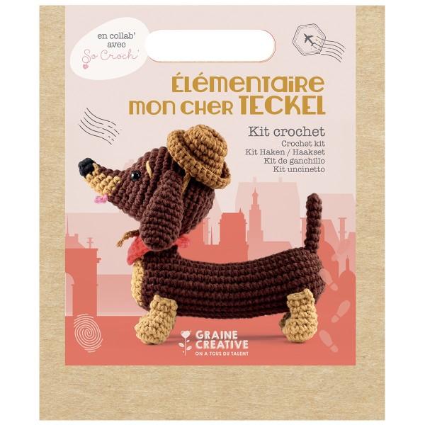 Kit Crochet Amigurumi - Teckel - 18 cm - Photo n°6