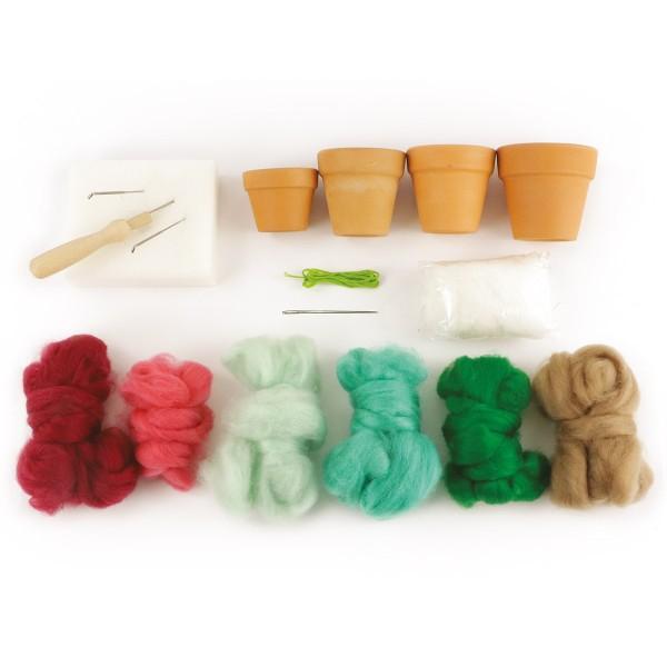 Kit DIY Laine cardée - Jardin - Photo n°3