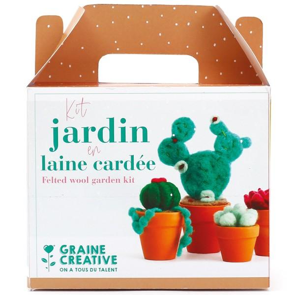 Kit DIY Laine cardée - Jardin - Photo n°1