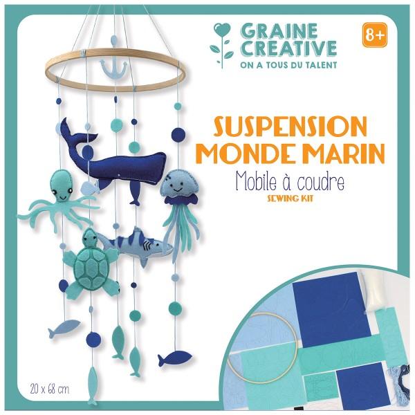 Kit feutrine - Mobile bébé DIY - Le monde marin - 68 x 20 cm - Photo n°1