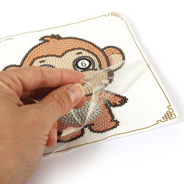 Kit Mosaïque Diamond - Etiquette de Bagage - Singe Ouistiti - 14 x 10,5 cm - Photo n°3