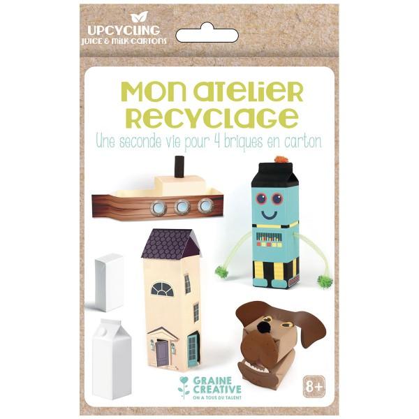 Kit créatif Mon atelier recyclage - Brique en carton - Photo n°1