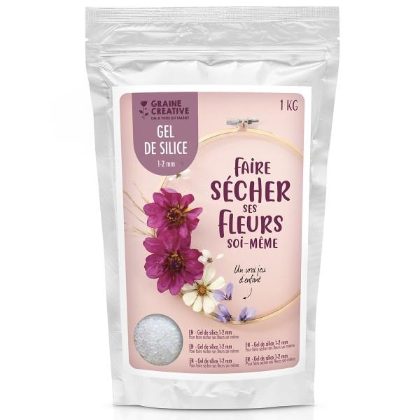 Sachet gel de silice - Faire sécher ses fleurs soi-même - 1 kg - Photo n°1