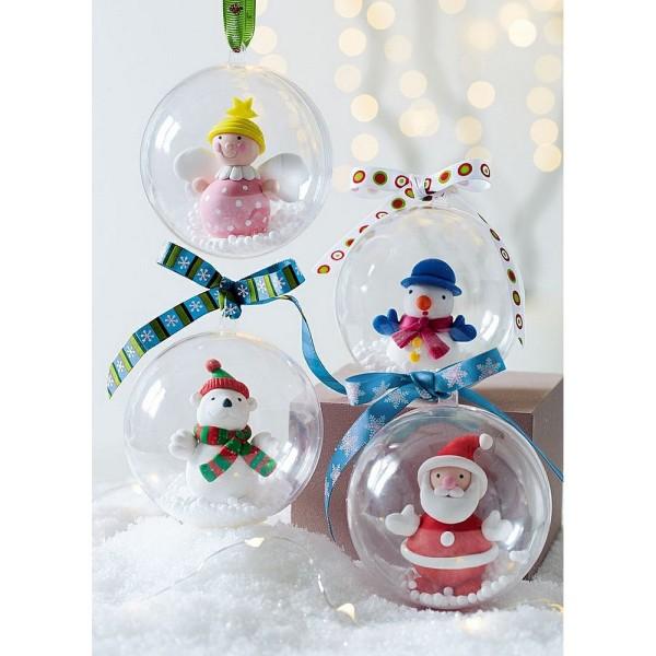 Lot de 18 Boules en Plastique transparent séparable, 3 tailles 8, 10 et 12 cm, Contenant alimentaire - Photo n°3