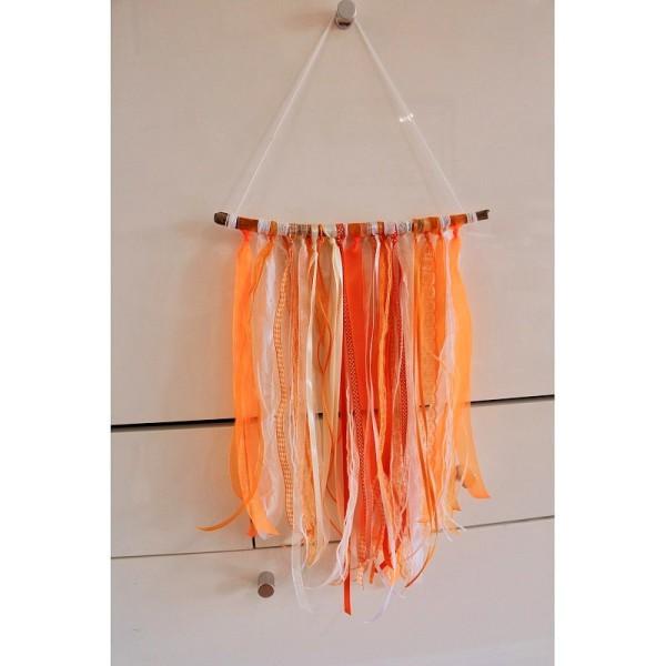 Ruban double en satin Orange, largeur 3 mm, longueur 40 m, 100% Polyester - Photo n°2