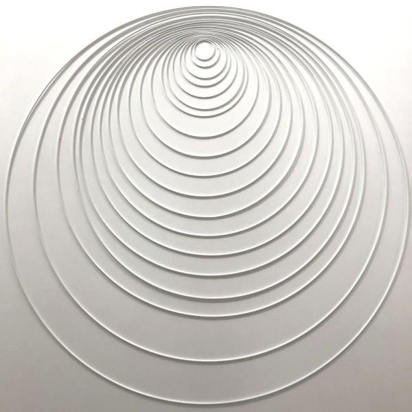 Gros lot 19 Cercles métal blanc Ø 5 cm à 90 cm, Cerceaux ou Anneaux Epoxy pour Attrape rêves - Photo n°1