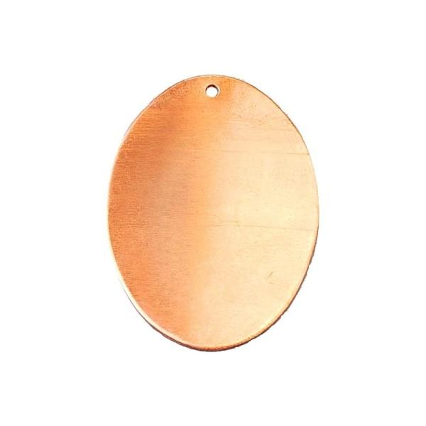 Lot de 10 Pendentifs en cuivre Ovale 1 trou, ébauche 41 x 31 mm x0.8mm pour émaillage - Photo n°1