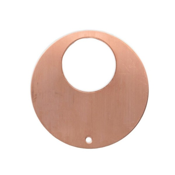 Lot de 10 Pendentifs en cuivre Rond, 1 trou, ébauche Ø 48 mm x 0.8mm pour émaillage - Photo n°1