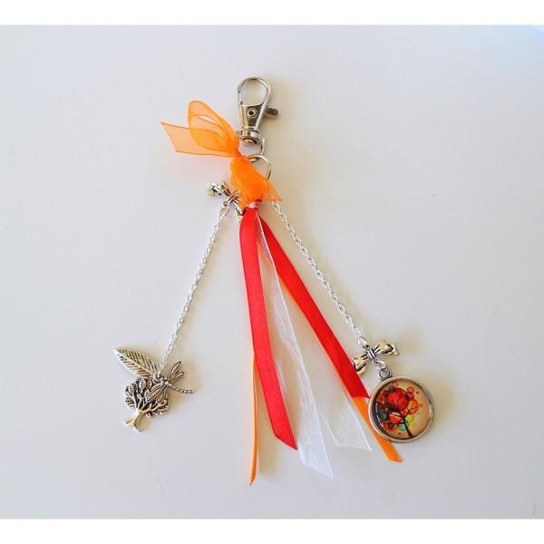 Ruban en Satin simple face, Orange, largeur 8 mm, longueur 19 m, tissu décoratif - Photo n°2
